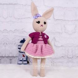 El Örmesi Amigurumi Organik Yıkanabilir  Tavşan Bebek Örgü O...