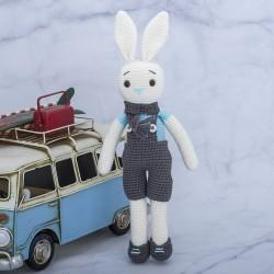 Amigurumi Oyuncak El Örgüsü Organik Sevimli Tavşan Boyutlar Y:27cm=G:7...
