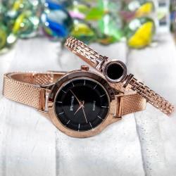 Bakır Renk Hasır Kordonlu Spectrum Marka Bayan Saat ve Kelep...