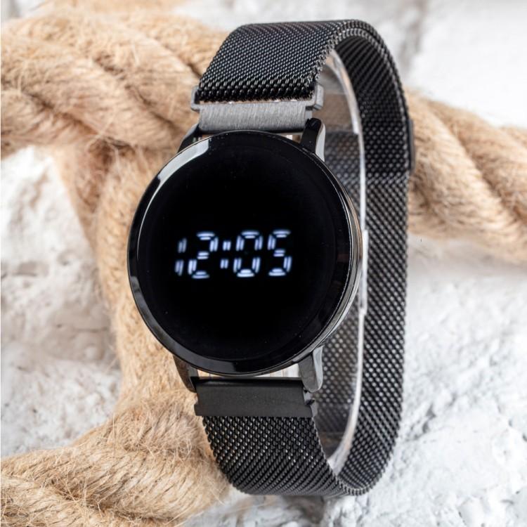 Black Watch Hasır Mıknatıslı Kordon Siyah Unisex Dokunmatik ...