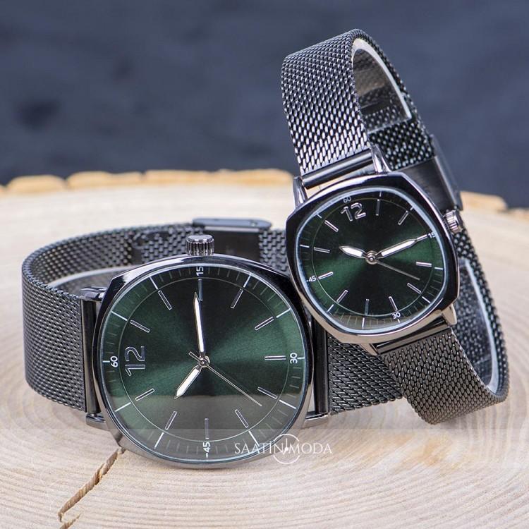 Çift Saatler Sevgili Saatleri Erkek Kadın Hasır Kol Saati ST-303778