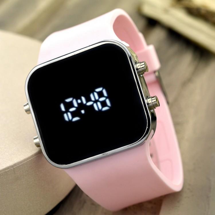 Dijital Bayan Genç Kadın Led Kol Saat Spectrumwatch Silikon Bileklik