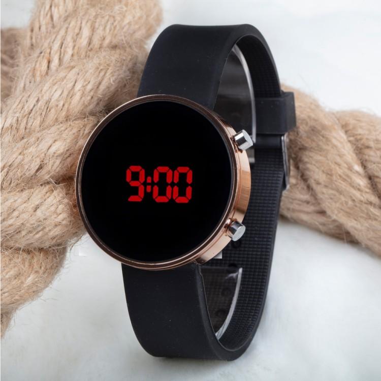 Dijital Led Watch Bakır Silikon Kordon Unisex Kol Saat