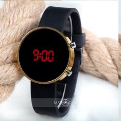 Dijital Led Watch Siyah Silikon Kordon Unisex Kol Saat ST-303484...