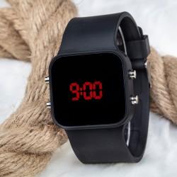 Dijital Mat Siyah Kasa Led Kol Saat Silikon Bileklik Yeni Model ...