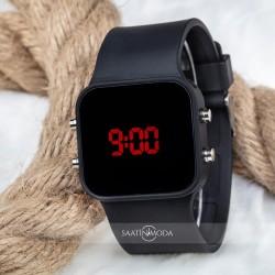 Dijital Mat Siyah Kasa Led Kol Saat Silikon Bileklik Yeni Model ST-303...