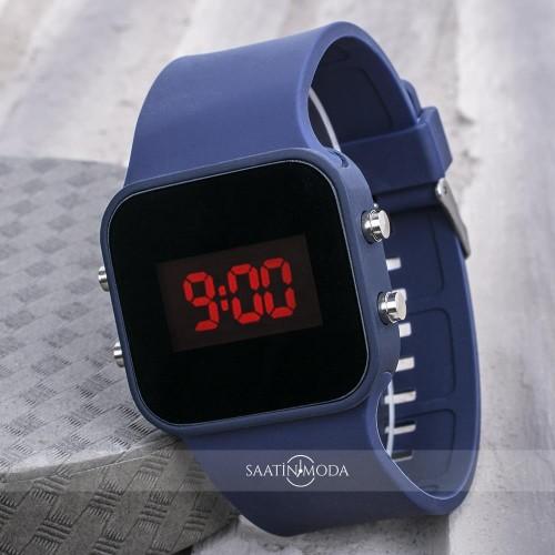 LED Ekran Dijital Silikon Kordon Unisex Kol Saat ST-303646...