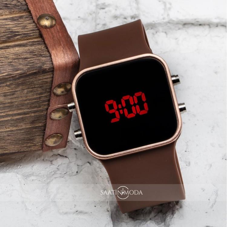 Led Watch Next Rose Renk Dijital Kadın Kol Saat Silikon Bileklik ST-303426