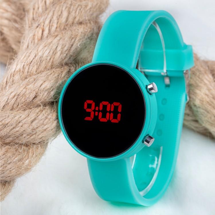 Led Watch Saat Su Yeşili Silikon Kordon Unisex Kol Saati