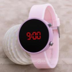 Led Watch Toz Pembe Dijital Bayan Yetişkin Kız Çocuk Kol Silikon Saat ...