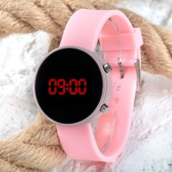 Led Watch Toz Pembe Renk Dijital Bayan Yetişkin Kız Çocuk Kol Silikon ...