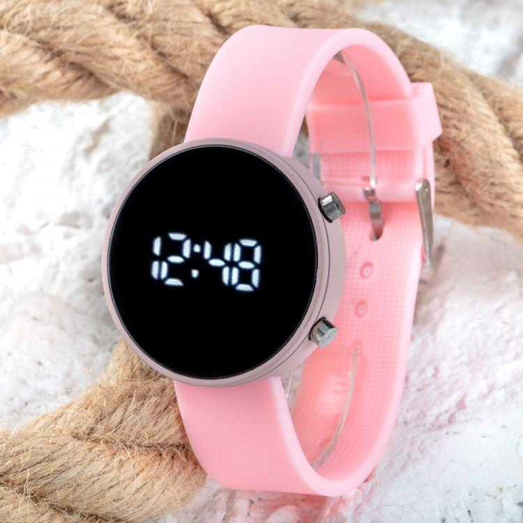 Led Watch Toz Pembe Renk Dijital Bayan Yetişkin Kız Çocuk Ko...