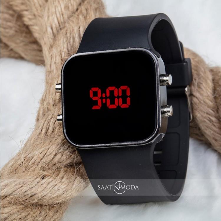 Orijinal Spectrumwatch Led Dijital Kol Saat Silikon Bileklik Siyah Saat ST-303056