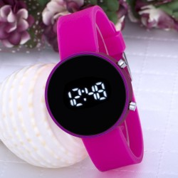 Pembe Renk Silikon Kordonlu Dijital Led Ekran Bayan Saat...