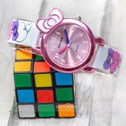 Pinkoli Kalp Desenli Beyaz Renk Deri Kordonlu Fiyonk Tasarım Kasa Çocu...