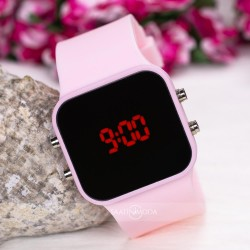 Pinkoli Watch Pudra Pembe Led Büyük Kız Çocuk Genç Kız Kol Saati ST-30...
