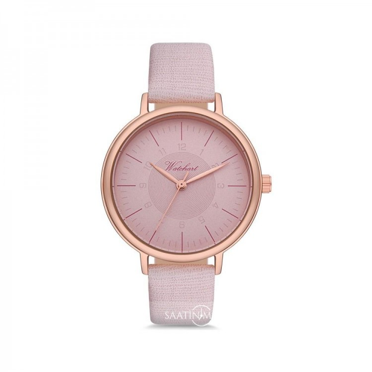 Rose Kasa Açık Pembe Renk Deri Kordonlu Kadın Kol Saati ST-303842