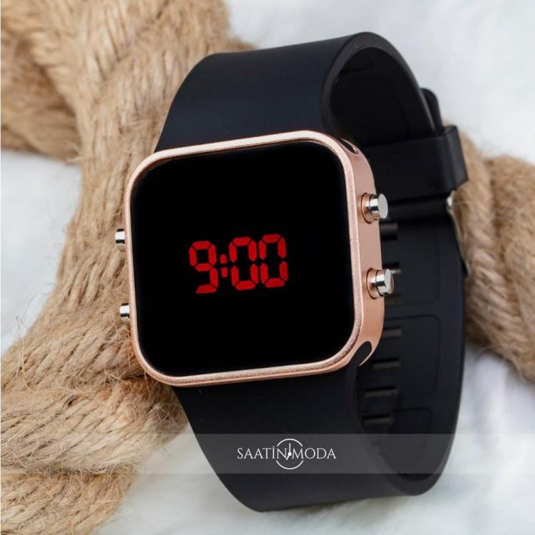 SaaTTino Dijital Rose Kasa Led Kol Saati Silikon Bileklik Saat ST-303798