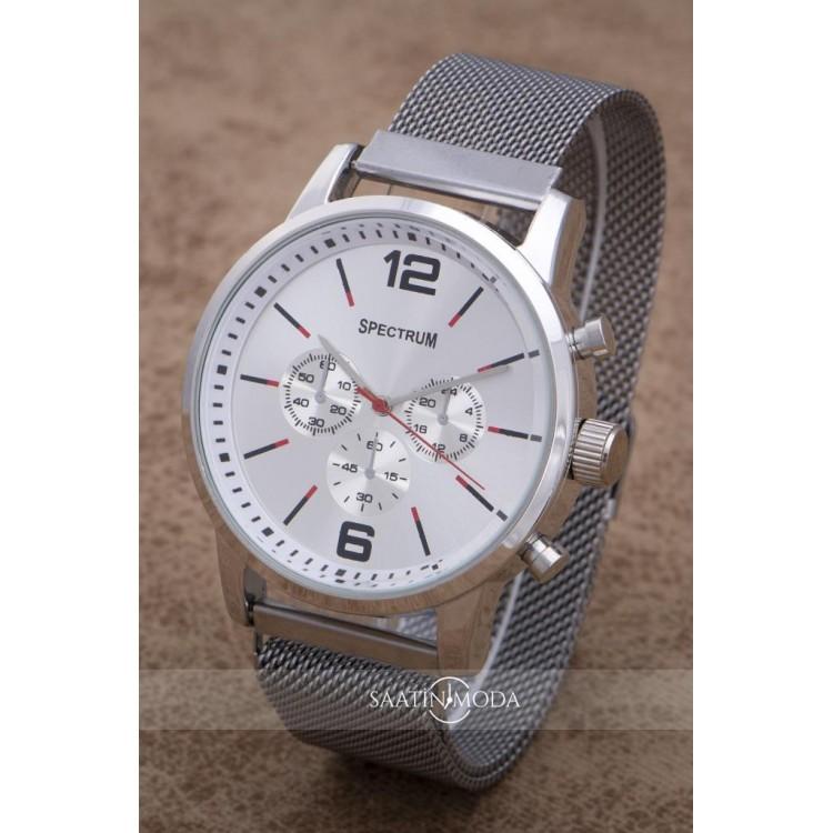Erkek Gümüş Renk Klasik Mıknatıs Kordon Kol Saat
