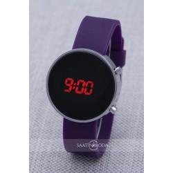 SaaTTino Kadın Kız Çocuk Silikon Kordon Mor Renk Dijital Led Kol Saati...
