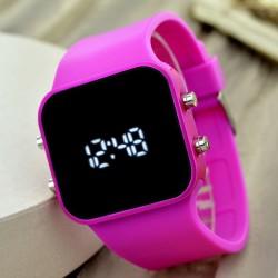 Yeni Led Ekran Trend Model Silikon Kordon Genç Kız Kadın Kol Saati...