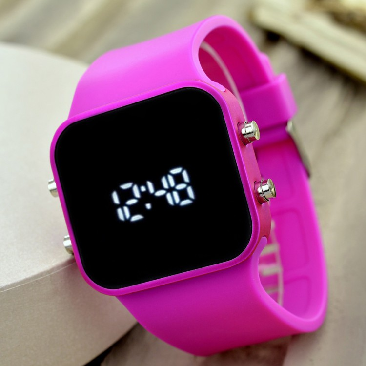 Yeni Led Ekran Trend Model Silikon Kordon Genç Kız Kadın Kol...