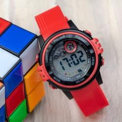 Şık Kırmızı Kordon WatchART Alarmlı Dijital Su Geçirmez Çocuk Kol Saat...