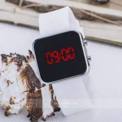 Şık Yeni Model Dijital Ekran Mini Gümüş Renk Unisex Kol Saat ST-303619...