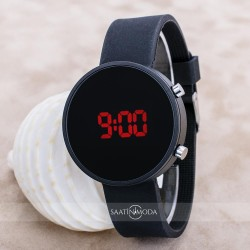 Siyah Silikon Kordon Dijital Led Ekran Erkek Kol Saati ST-303634...
