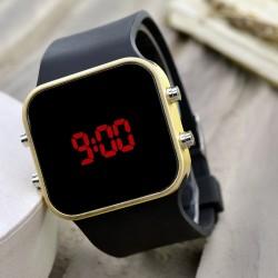 Spectrum Led Gold Black Unisex Sarı Renk Dijital Kol Saati Bileklik Sa...