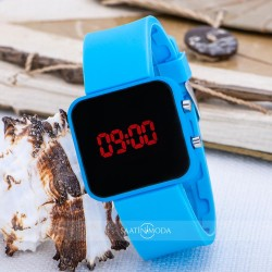 SPECTRUM WATCH Mavi Renk Dijital Led Ekran Mini Unisex Kol S...