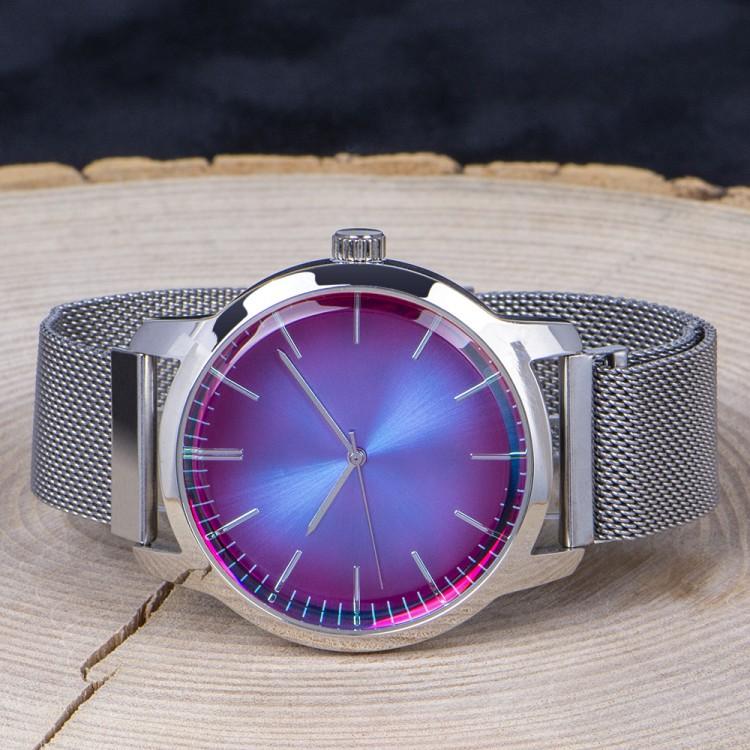 Spectrum Watch Renkli Cam Hasır Örgü Kordon Mıknatıslı Erkek...