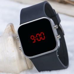 Spectrum Watch Silver Renk Siyah Kordon NICKEL FREE Dijital Kol Saati...