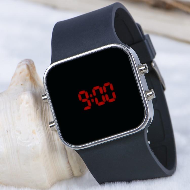 Spectrum Watch Silver Renk Siyah Kordon NICKEL FREE Dijital ...