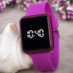 Touche Watch Fuşya Renk Silikon Kordonlu Dokunmatik Led Bayan Saat...