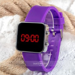 Unisex Watch Led Mini Purple Kadın Genç Kız Kol Saati SPECTRUMwatch Le...